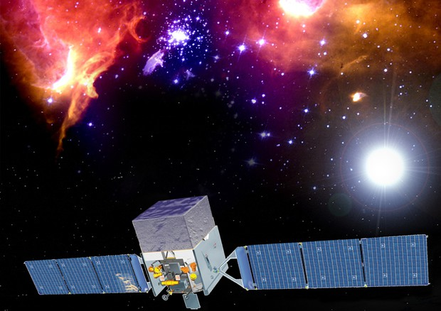Rappresentazione artistica del satellite Fermi (fonte: NASA/Goddard Space Flight Center) © Ansa