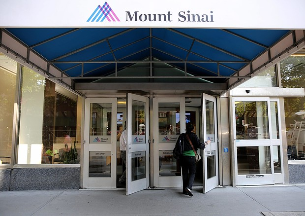 L'ingresso dell'ospedale Mount Sinai a New York © EPA