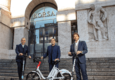 Salvatore Palella, founder e CEO di Helbiz, Rodrigo Cipriani Foresio, country manager Alipay South Europe e Matteo Arpe, founder e CEO di Tinaba (ANSA)