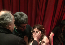 Desiree Rancatore in lacrime per gli appluasi (ANSA)