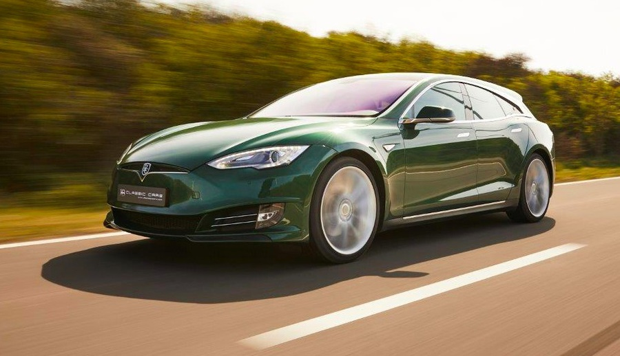Tesla Model S Shooting Brake © Ansa