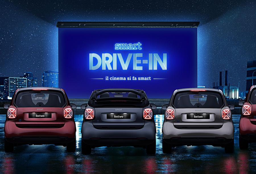 Smart suitegrey, la limited edition si trasforma in drive in © Ansa