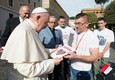 Members of the Polish Caritas meet Pope Francis (ANSA)
